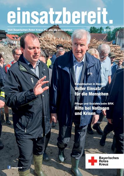 b068698576 - einsatzbereit. Das Magazin des Bayerischen Roten Kreuz. Erfolgreich Entscheidungsträger erreichen.