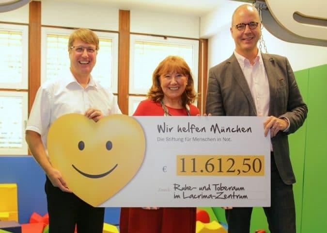 a736d59878 675x480 - Spende der Stiftung »Wir helfen München« für Lacrima