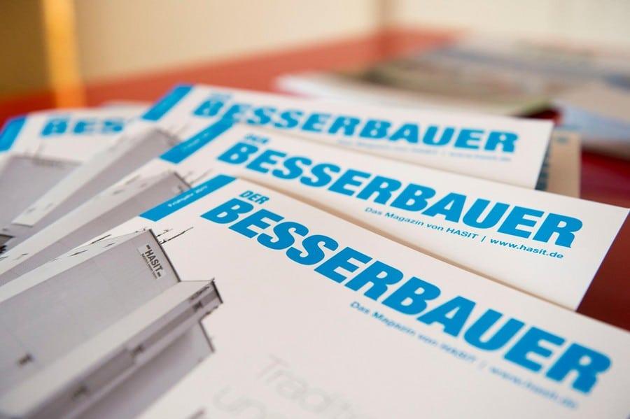 """b72e463615 - HASIT mit dem """"Besserbauer"""" auf der BAU 2017"""