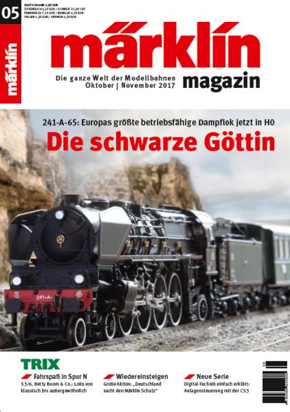 """74f3f177da - Die """"schwarze Göttin"""" als Modell und im Original auf der IMA! Das Märklin Magazin 05/2017"""