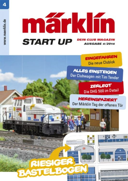 14 082014 Titel pe 530x750 - Attention on the platform - the fourth Märklin Start up magazine pulls in