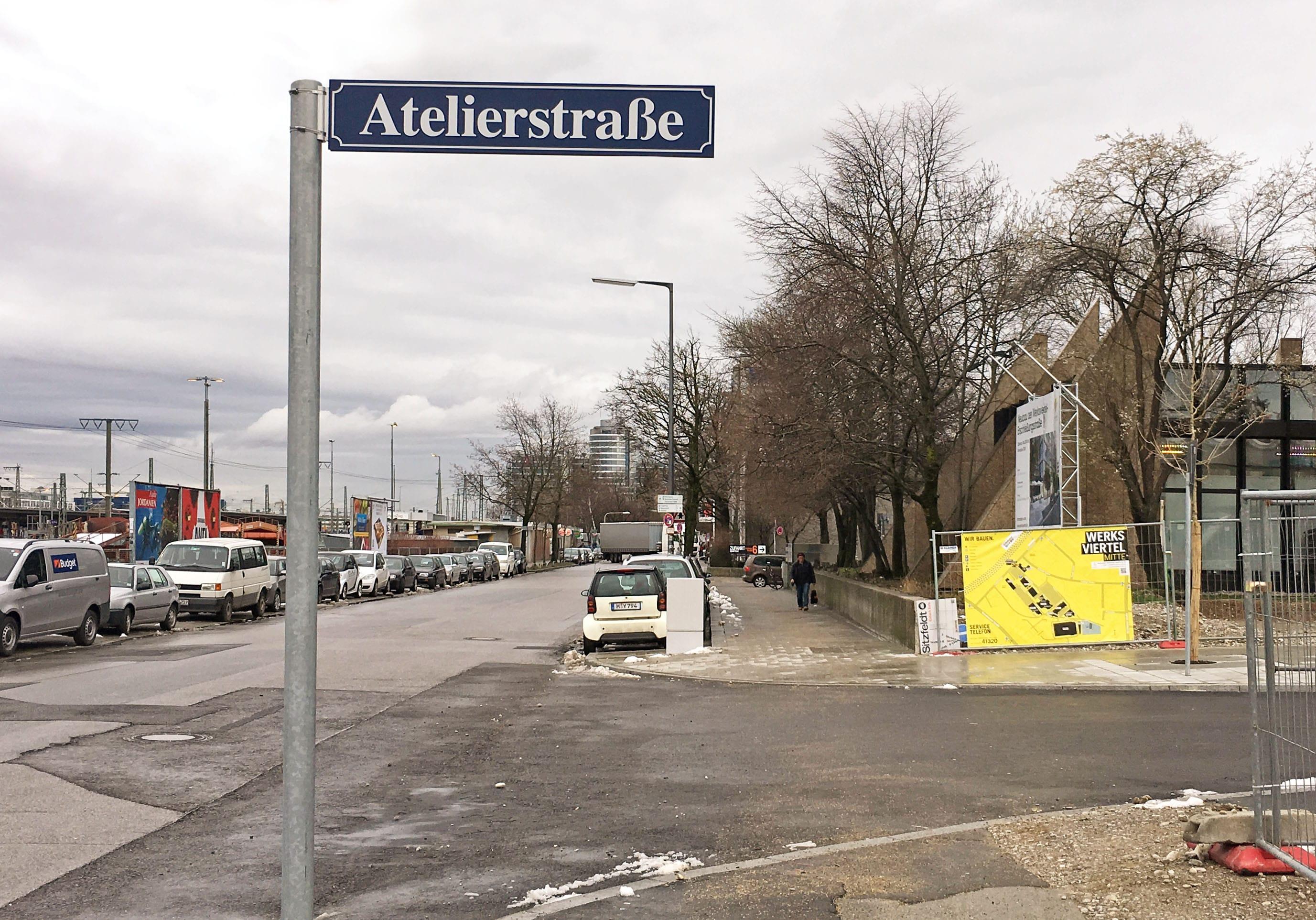 962 ret - Über die Atelierstraße ins Werksviertel