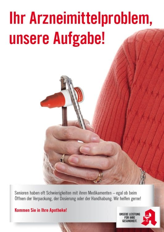 BAV Kampagne Plakat Homepage 531x750 - The Bavarian Pharmacists Association helps elderly people