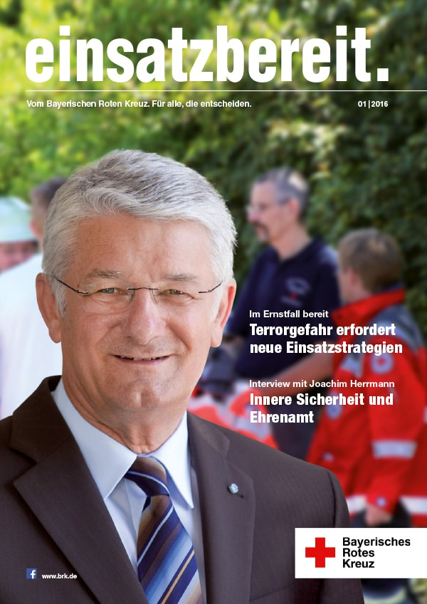BRK magazin einsatz Ausgabe1 Titel - einsatzbereit. Neuer Content für das Bayerische Rote Kreuz