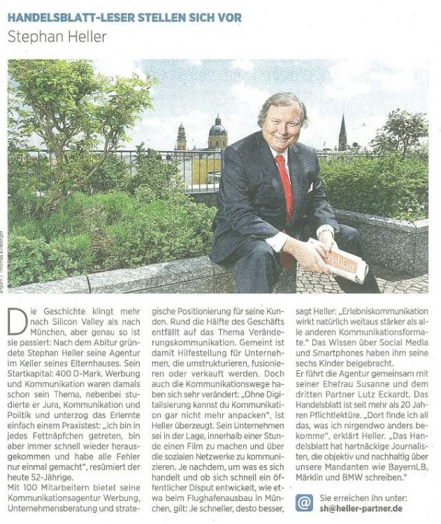 Handelsblatt sh 02 073014 631x750 - Stephan Heller presents himself in the Handelsblatt journal